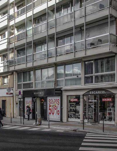 La rue de Vaugirard prise en février 2019 à l'angle de la rue Desnouettes, par J.Barret