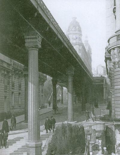 La rue de l'Alboni vers 1900 @Parimagine