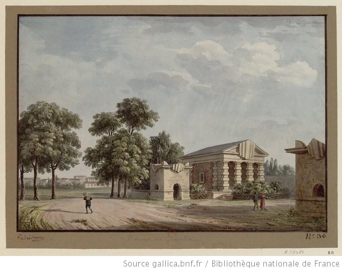 Barrière de Grenelle (dessin Palaiseau) ©Gallica.bnf.fr