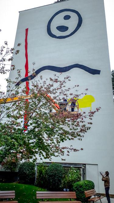 La fresque de Zloty au 44 rue du Dessous-des-Berges le 22 octobre 2019 @J.Barret