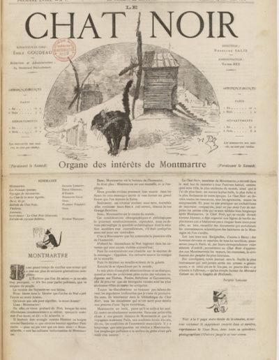 Le premier numéro de la revue Le Chat Noir en janvier 1882 @Gallica BNF