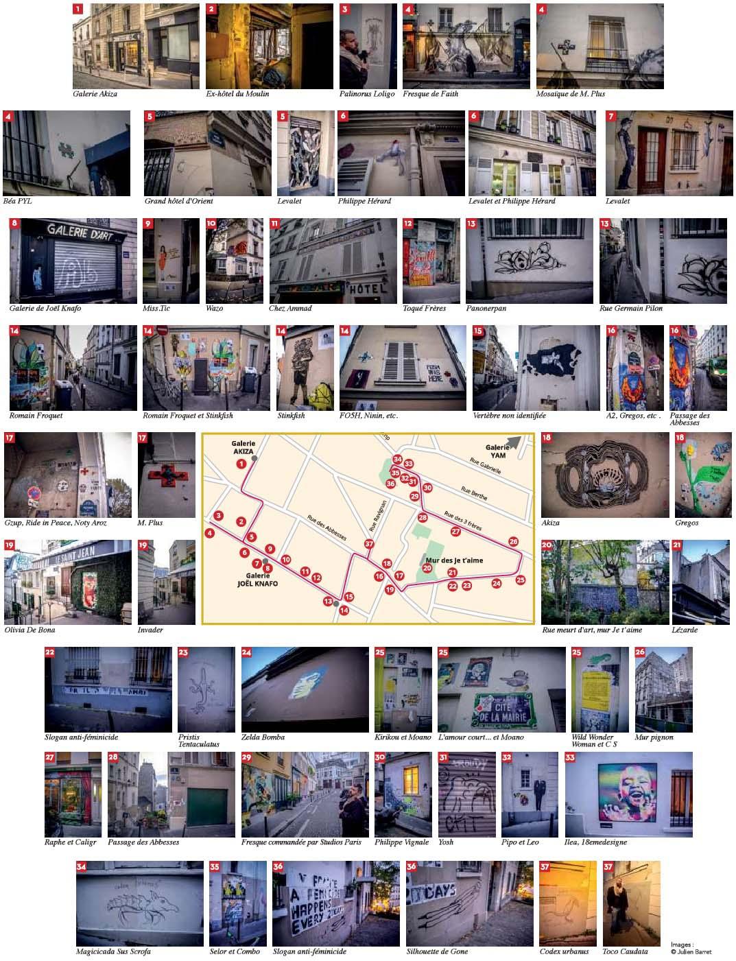 Parcours street art à Montmartre avec Codex Urbanus - autourdeparis - 18 Les Nouvelles