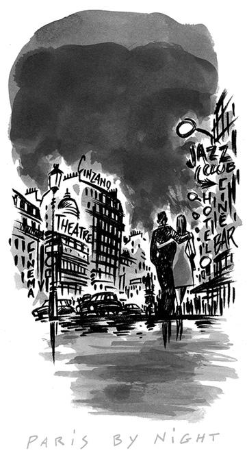 Dessin de Damien Chavanat pour l'illustration de Paris aux cent visages de Jean-Louis Bory-10