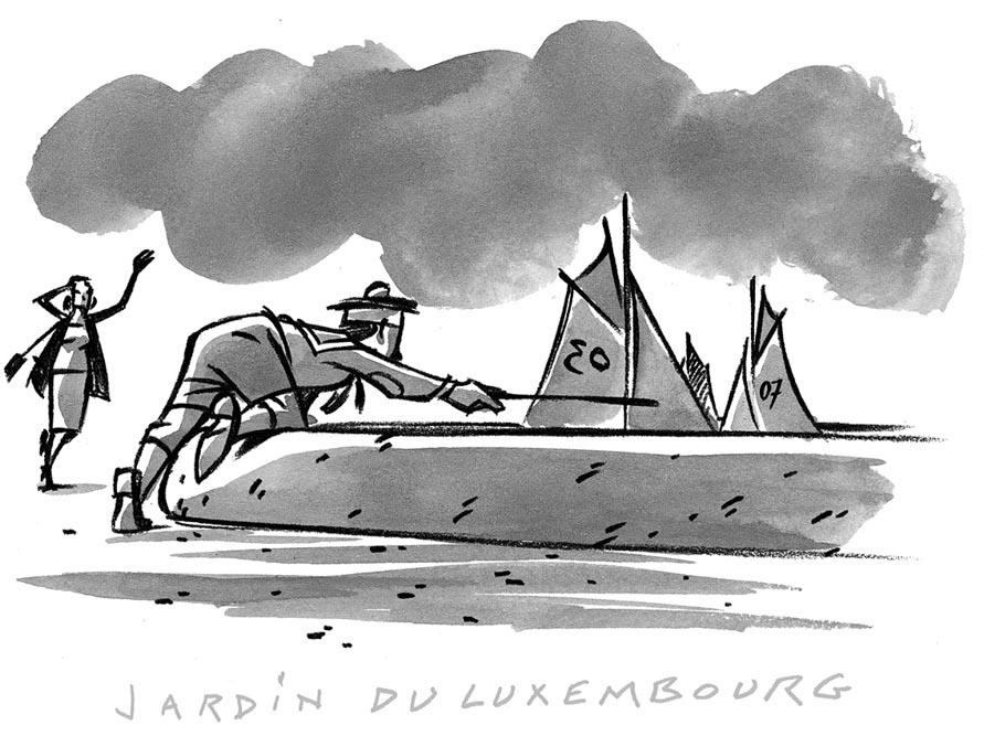 Dessin de Damien Chavanat pour l'illustration de Paris aux cent visages de Jean-Louis Bory-11