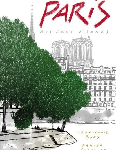 Dessin de Damien Chavanat pour l'illustration de Paris aux cent visages de Jean-Louis Bory-12