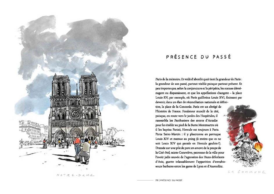 Dessin de Damien Chavanat pour l'illustration de Paris aux cent visages de Jean-Louis Bory-14