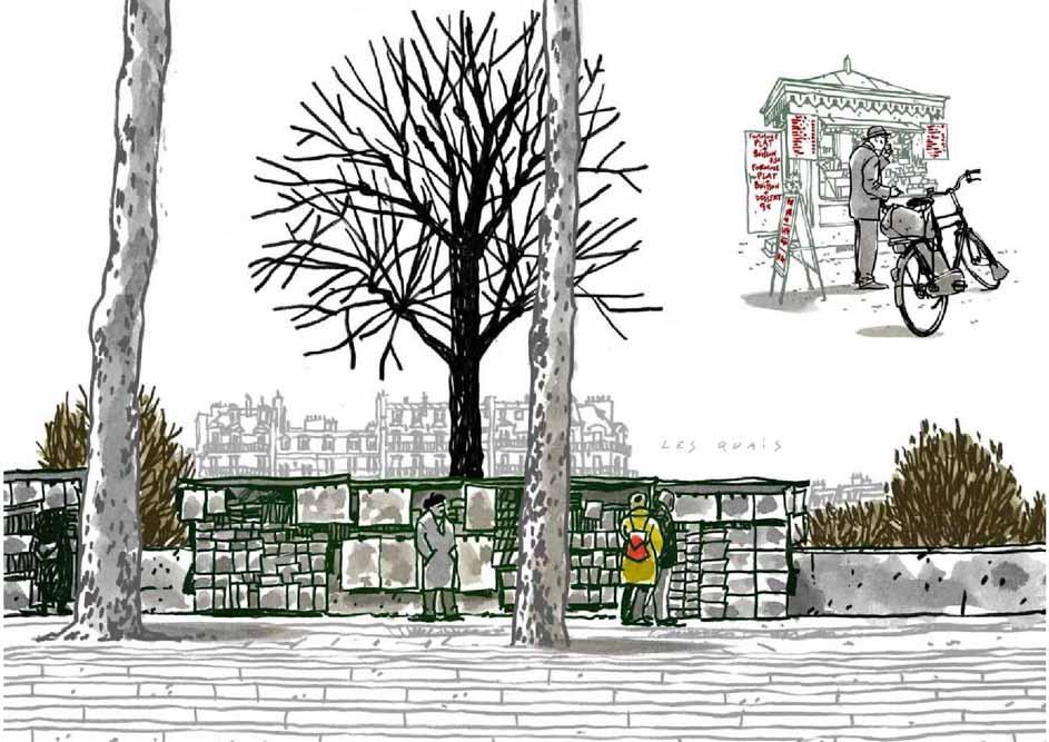 Dessin de Damien Chavanat pour l'illustration de Paris aux cent visages de Jean-Louis Bory-15