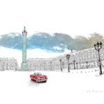 Dessin de Damien Chavanat pour l'illustration de Paris aux cent visages de Jean-Louis Bory-16
