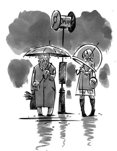 Dessin de Damien Chavanat pour l'illustration de Paris aux cent visages de Jean-Louis Bory-2