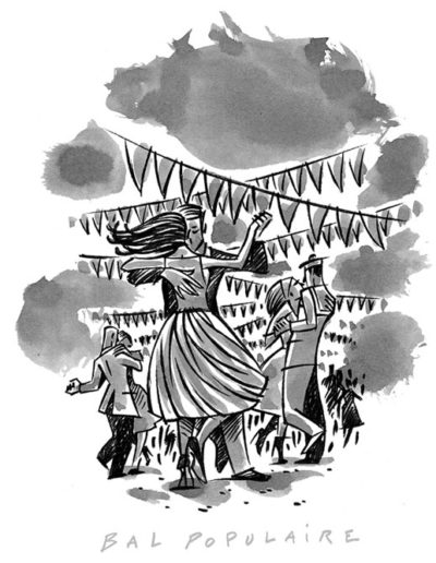 Dessin de Damien Chavanat pour l'illustration de Paris aux cent visages de Jean-Louis Bory-7