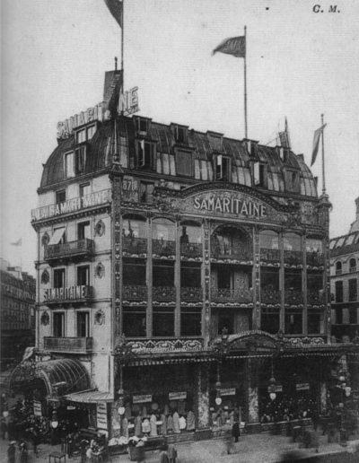 Le bâtiment originel de la Samaritaine, côté rue de Rivoli, autour des années 1900 © Parimagine