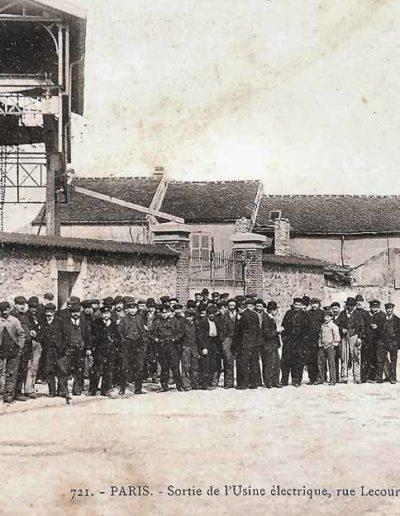 Vue de l'usine de l'Éclairage Électrique, carte postale d'environ 1900 © SHA15e.