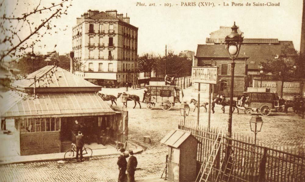La porte de Saint-Cloud, du pavillon d'octroi aux fontaines de la Seine