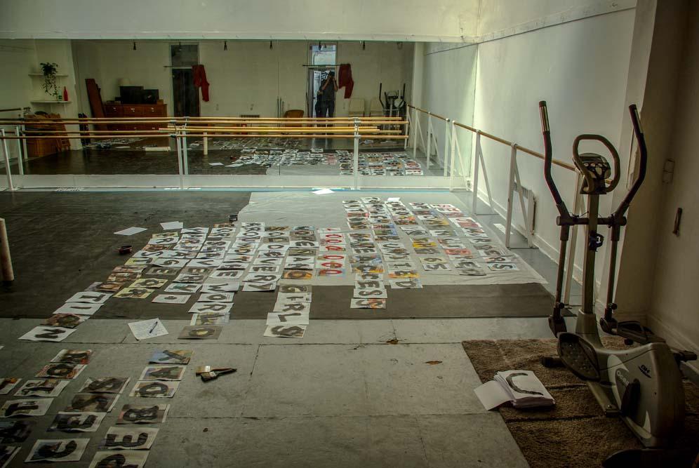 Salle de danse du squat où vit Marguerite Stern @J.Barret