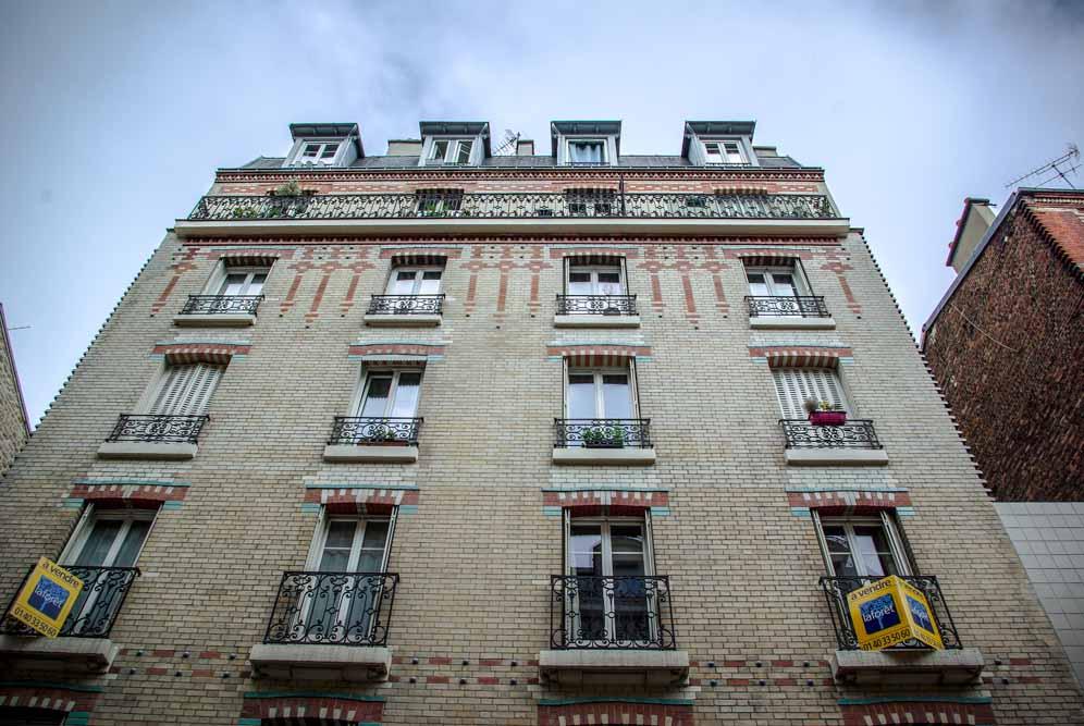 Au 5 rue Orfila, l'immeuble du Dr C., dentiste évoqué dans La boîte à ragoût @J.Barret