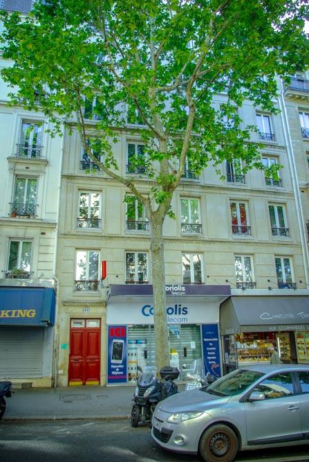 Façade du 222 rue des Pyrénées @J.Barret