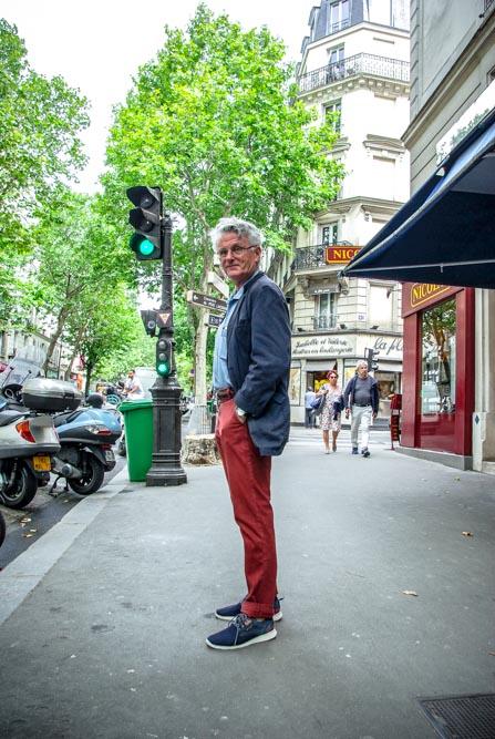 Gérard Mordillat rue des Pyrénées @J.Barret