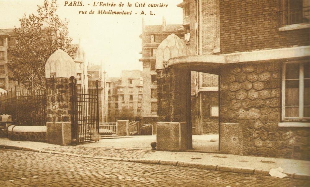 Le 140, Ménilmontant, ensemble HBM de 584 logements terminé en 1925 par Louis Bonnier @Parimagine