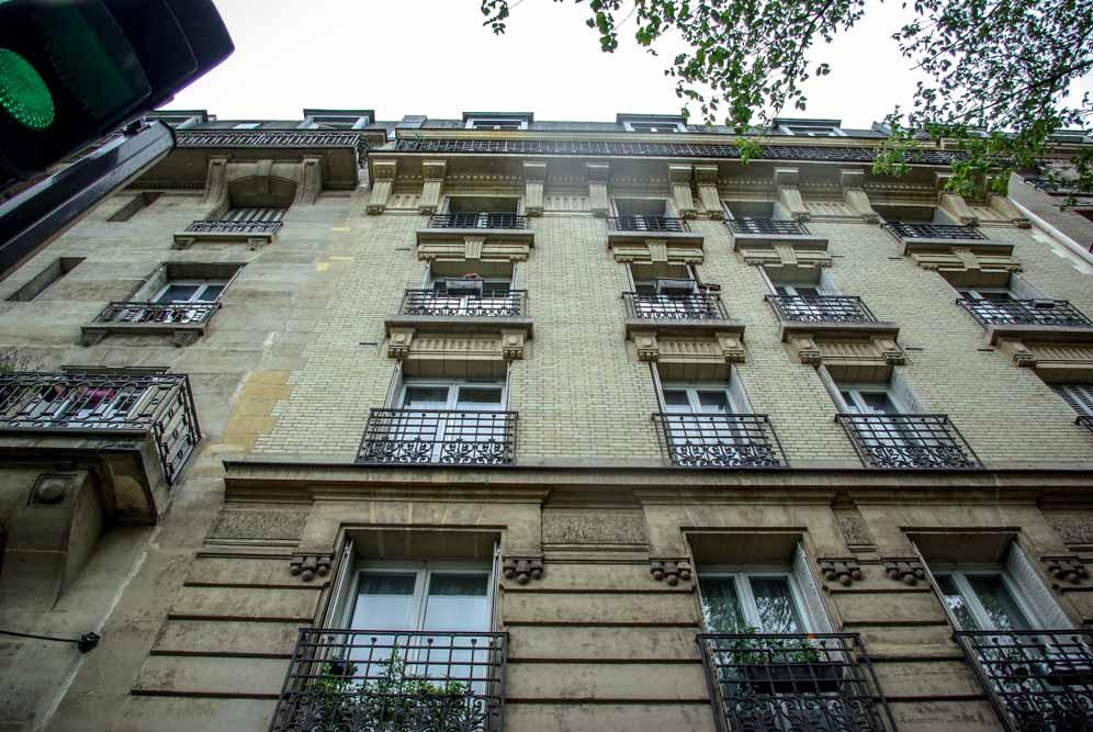 L'immeuble du 16 rue Belgrand où habitait la tante de Gérard Mordillat @J.Barret