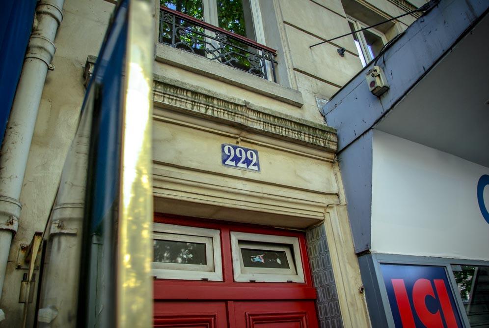 Morceau de Façade du 222 rue des Pyrénées @J.Barret