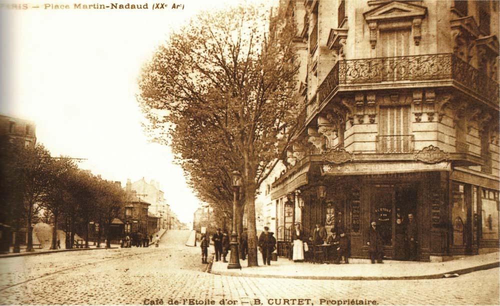 Place Martin Nadaud, café de l'Etoile d'Or, maison Curtet @Parimagine