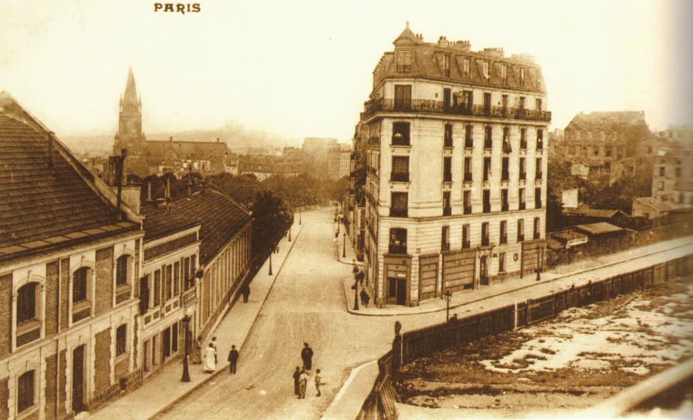 Rue de la Bidassoa et rue Boyer depuis la rue d'Annam @Parimagine