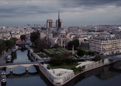 Vue aérienne de l'ile de la Cité © Orange