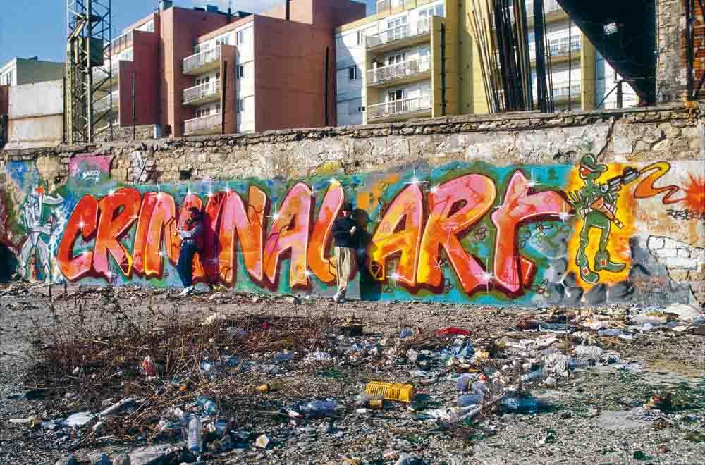 Fresque de Bando et Mode 2, image issue du dossier de presse de Graffiti Général @Claude Abron