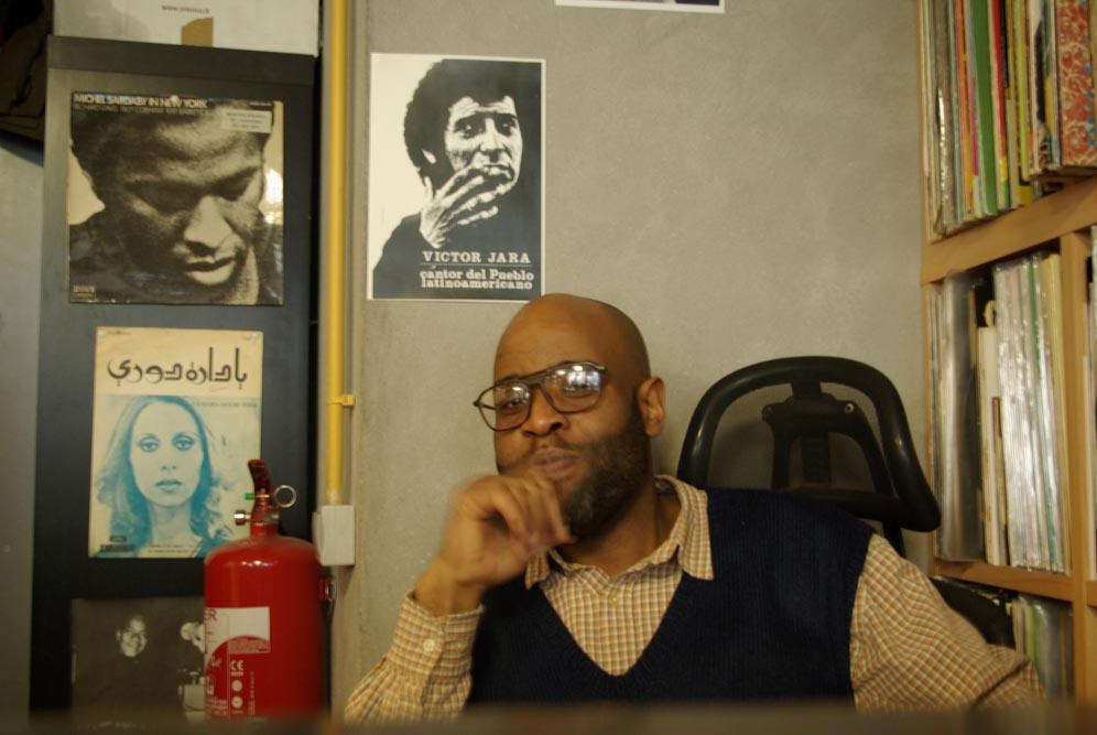 Jaurès, gérant du disquaire Soul Ableta, 47 rue Marcadet @JBarret