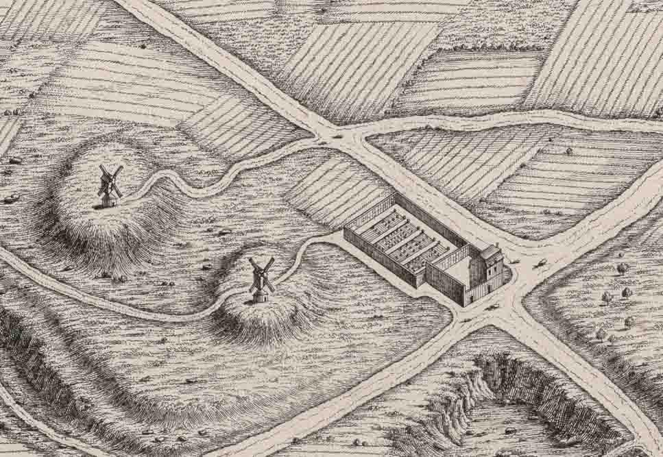 L'auberge à l'enseigne à la Goutte d'Or, détail du plan Turgot de 1739