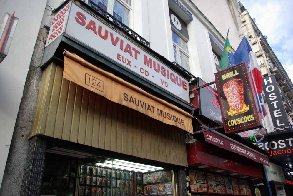 Sauviat Musique, l'un des seuls dépôts-ventes de musiques maghrébines encore existant, 124 bd de la Chapelle @JBarret