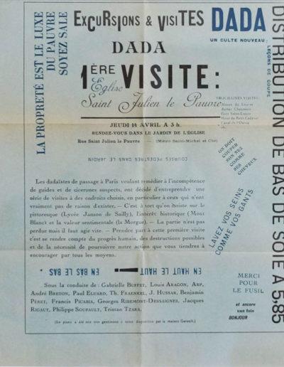 Affiche-Tract pour la première manifestation DADA à Paris, 1921, bibliothèque littéraire Jacques-Doucet, en vente à la Galerie Emmanuel Hutin
