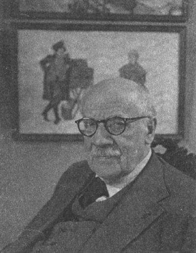 Alexandre Benois vers 1950 (archives D. Vicheney)