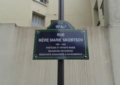 Plaque de la rue dédiée à Marie Skobtsov @Philippe Virat