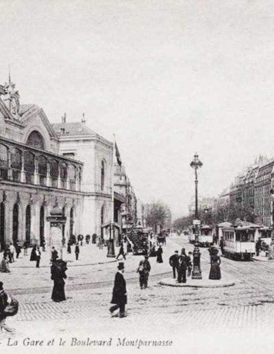 La gare Montparnasse photographiée au début du 20e siècle, vers 1910 @SHA15