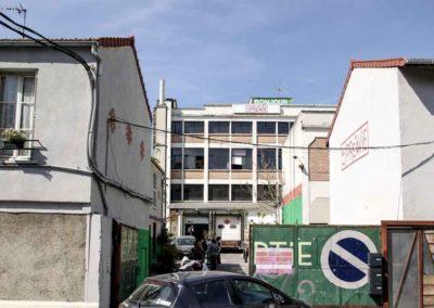 La façade des Salaisons Busso en avril 2021 @JBarret