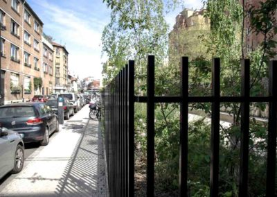 La rue Danton avant les travaux du parc de l'ilot Danton en avril 2021 @JBarret