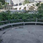 Le square du Vert-Galant pris en photo fin mai 2020, juste avant la réouverture des parcs @J.Barret