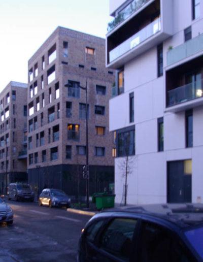 L'écoquartier Boucicaut, à gauche, depuis la rue des Cévennes en janvier 2020 @JBarret