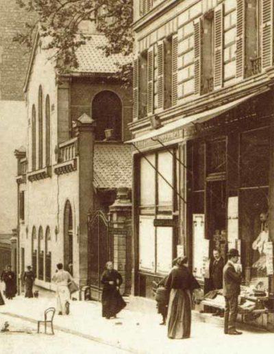 Vue sur l'église Saint-Pierre-de-Chaillot depuis l'avenue Marceau en 1905 @Parimagine