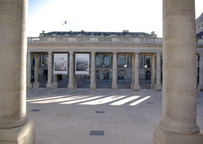 Vue sur la cour du Palais Royal @J.Barret