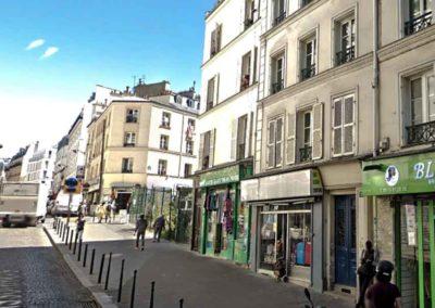 Capture d'écran Google Maps de la rue des Poissonniers, angle rue Polonceau @J.Barret