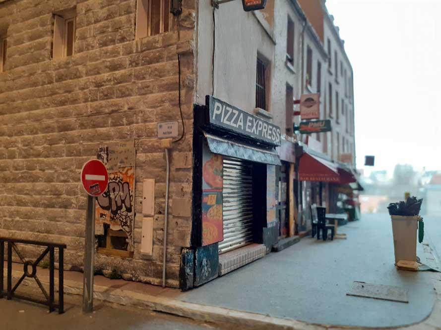Maquette de Nicolas Pierre représentant un immeuble de la rue Pasteur à Saint-Ouen @Nicolas Pierre