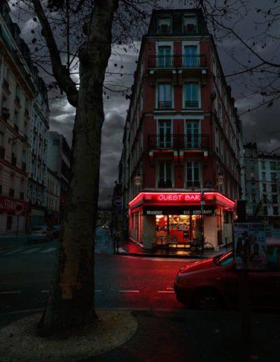 Ouest Bar Paris XVII Série Red Lights @Blaise Arnold