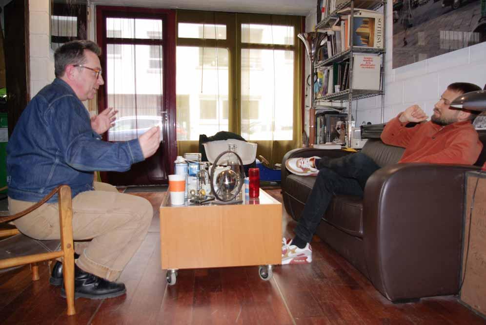 Rencontre avec Blaise Arnold et Nicolas Pierre au studio de Blaise Arnold le 30 avril 2021 @JBarret