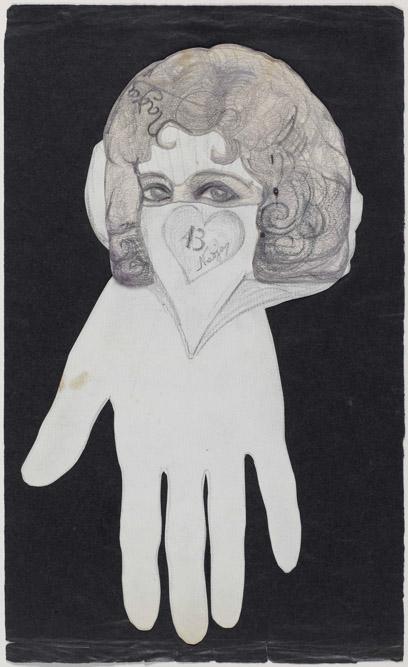 Léona Delcourt - Nadja, dessin et découpage, Paris, 1922 © Centre Pompidou