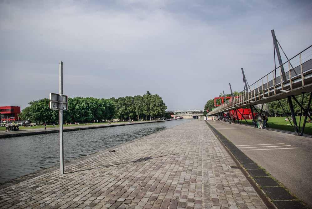 Le Canal de l'Ourcq en direction de Pantin @J.Barret