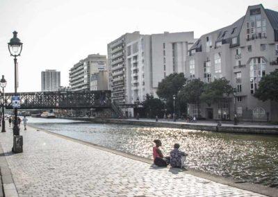 Le pont de la Petite Ceinture au-dessus du canal de l'Ourcq en juillet 2021 @J.Barret-2